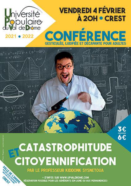 Affiche conférence CATASTROPHITUDE ET CITOYENNIFICATION - UPVD